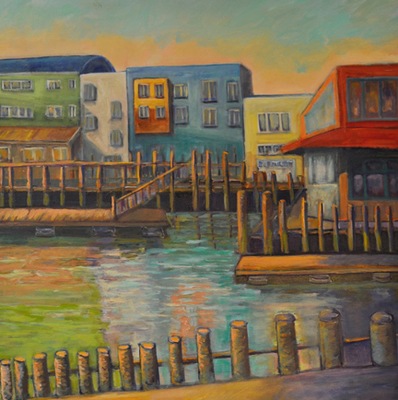 Portland Harbor Sun Still Rising SOLD - Copyright Marcia Feller2006